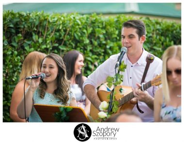 Tom and Kate white clover music singing pre wedding