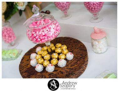 Reception detail of room at Mulgoa Valley Receptions candy bar