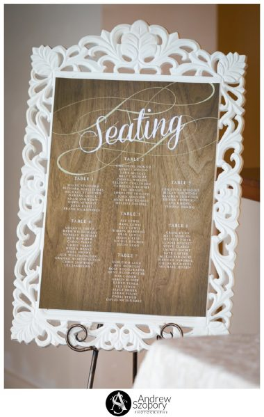 Reception detail of room at Mulgoa Valley Receptions seating plan